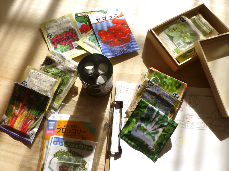 いろいろな野菜やハーブの種