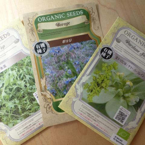 自家栽培はオーガニックな種子で。スプラウトにも。