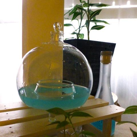 レトロなハエ取りガラス容器
