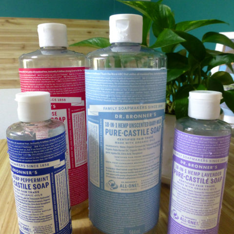 なんでも洗えるその石鹸はナチュラルフレンドリーで人にも環境にも優しい。