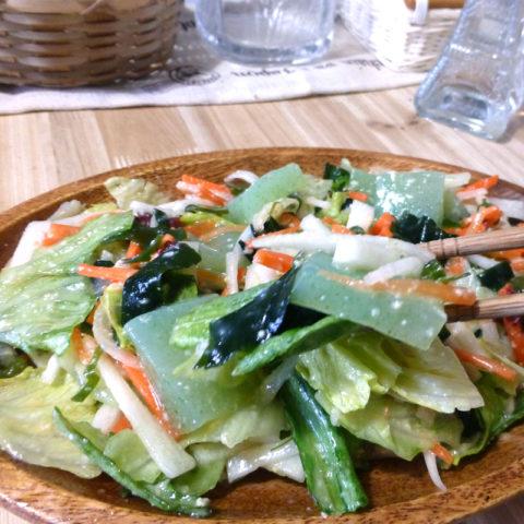 海藻と大根の甘酢味噌和え